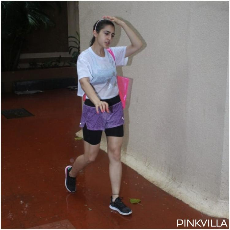 PHOTOS: Coolie No 1 actress Sara Ali Khan glows as she steps out of her gym in workout clothes