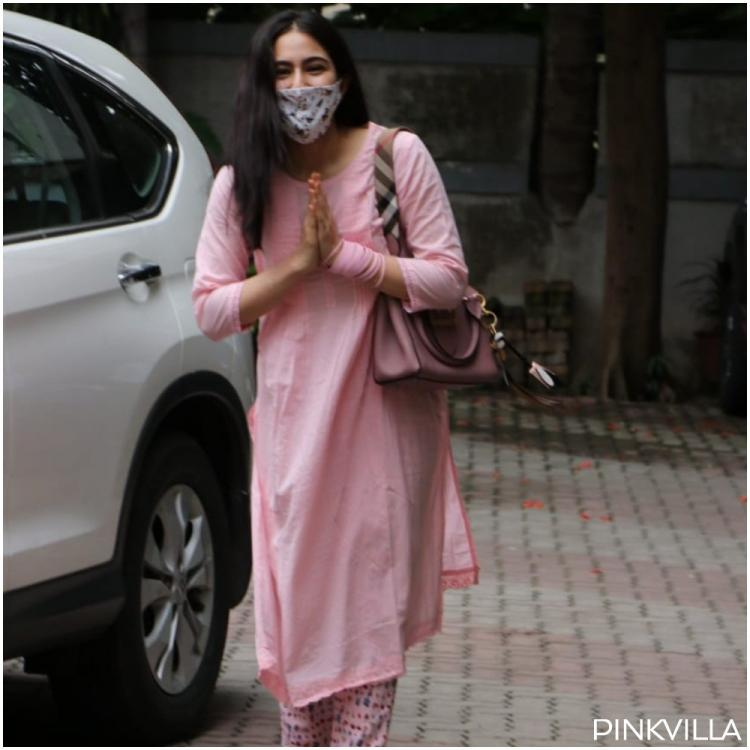 Sara Ali Khan asks paps about their safety after months of COVID 19 lockdown; Obliges them with namaste pose