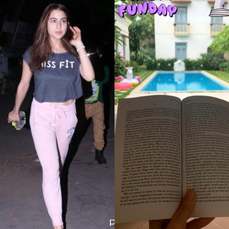 Sara Ali Khan enjoys some solo time on her family vacay as she reads a book by the pool; See PHOTO