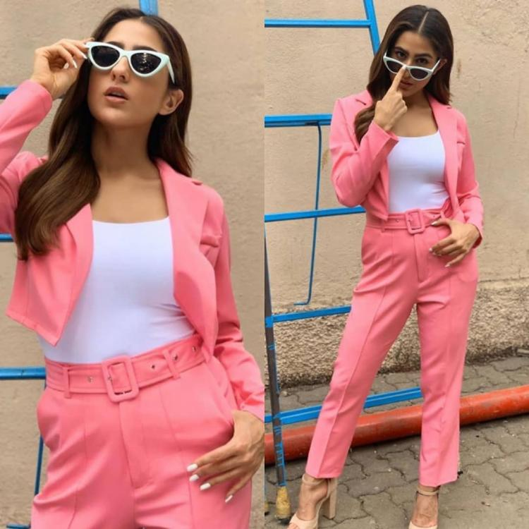 Sara Ali Khan keeps it trendy in a bright pink pantsuit by Appapop; Yay or Nay