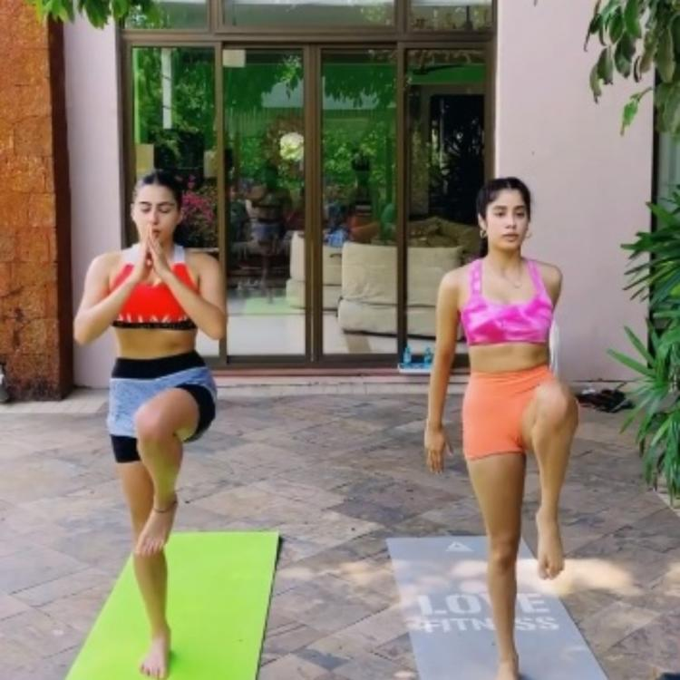 WATCH: Sara Ali Khan and Janhvi Kapoor show how to get the 'golden glow' post intense workout session on vacay