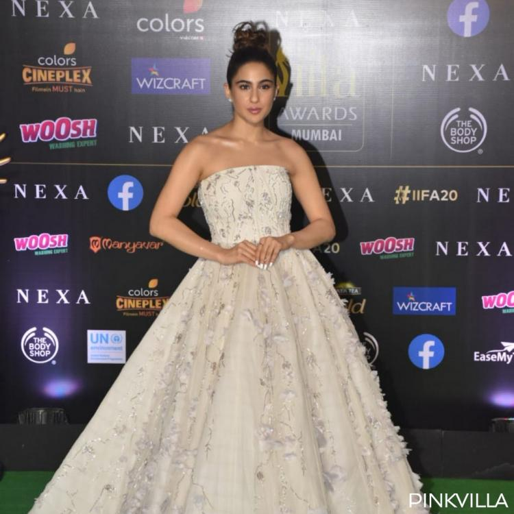 PHOTOS: Sara Ali Khan dolls up in an intricately designed white gown for the green carpet