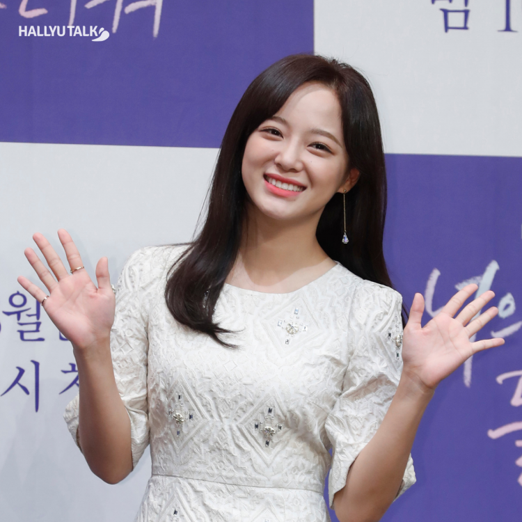 Actress and singer Kim Sejeong at the promotions for I Wanna Hear Your Song