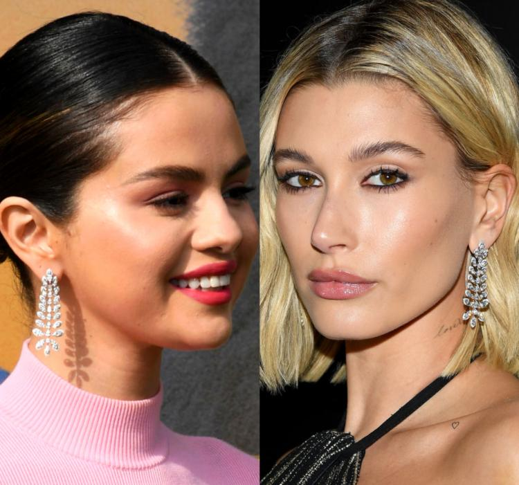 Selena Gomez and Hailey Bieber wear the same Messika earrings AGAIN: Who wore it better?