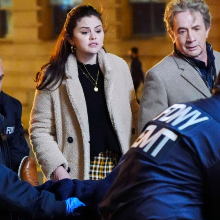 PHOTOS: Selena Gomez spotted shooting intense scene for Only Murders in the Building in NYC.