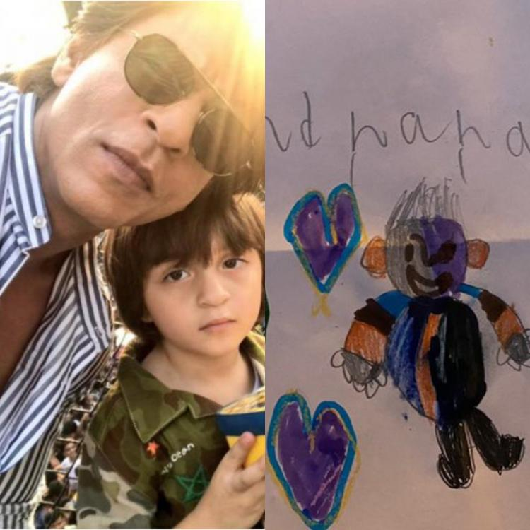 Shah Rukh Khan cannot stop gushing about AbRam after munchkin sketches an adorable picture of SRK
