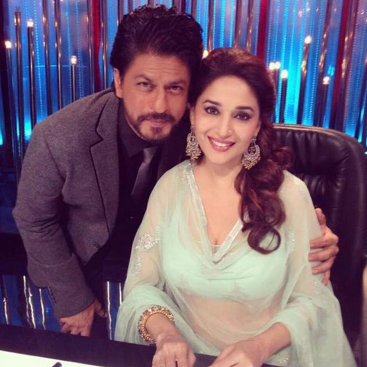 Shah Rukh Khan REVEALS Madhuri Dixit is the one person he has always looked upto; Dhak Dhak girl responds