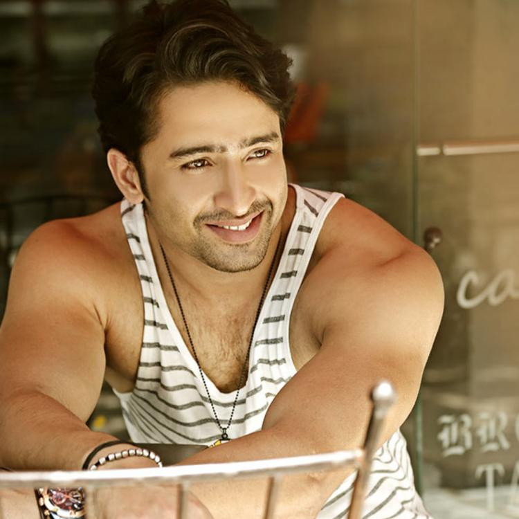 Shaheer Sheikh looks charming as he flashes his beaming smile while relaxing on a couch; See Photo