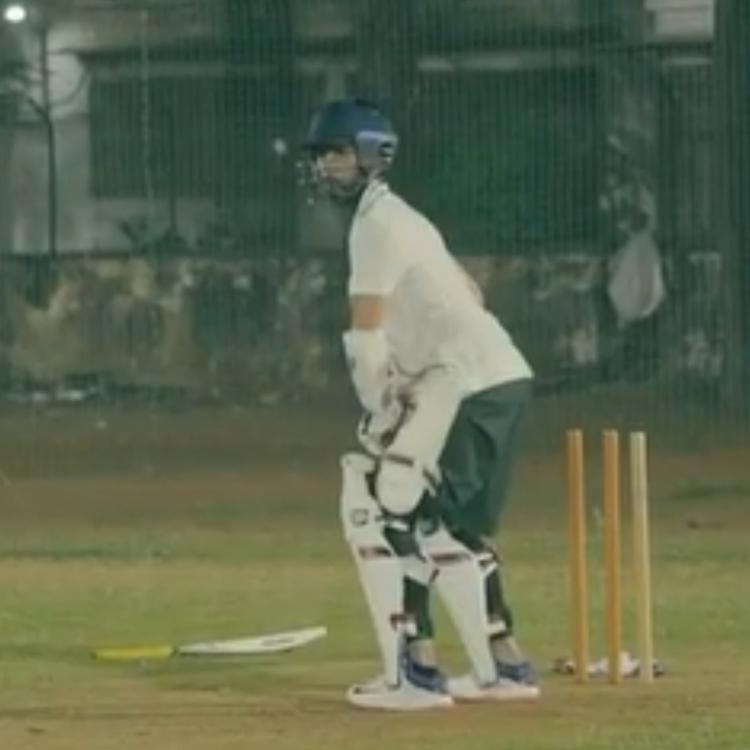 Shahid Kapoor practicing in nets for Jersey in old video