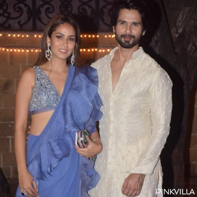 Diwali 2019: Shahid Kapoor & Mira Rajput dazzle in a traditional look for Sonam Kapoor Ahuja's party; See Pics