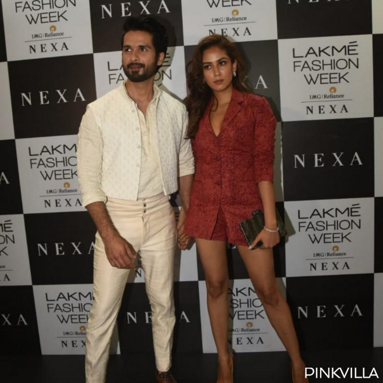 PHOTOS: Shahid Kapoor and Mira Rajput make for one graceful couple at the Lakme Fashion Week 2019