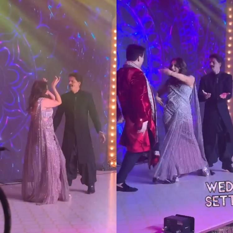 Shah Rukh Khan sports a moustache as he grooves to Kajra Re with Gauri Khan & Karan Johar at Armaan's wedding