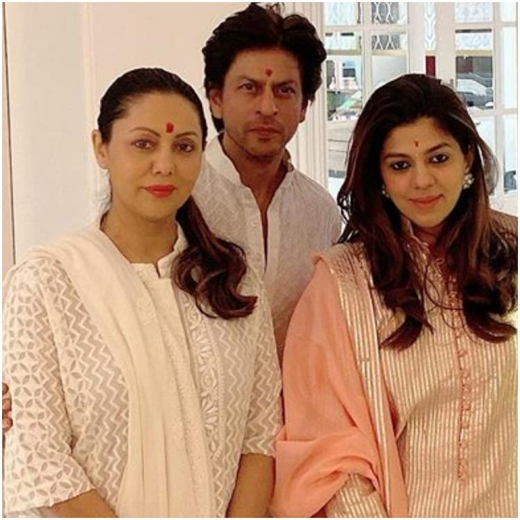 INSIDE Shah Rukh Khan & Gauri Khan's Diwali: SRK twins in white with wife to celebrate the festival of lights
