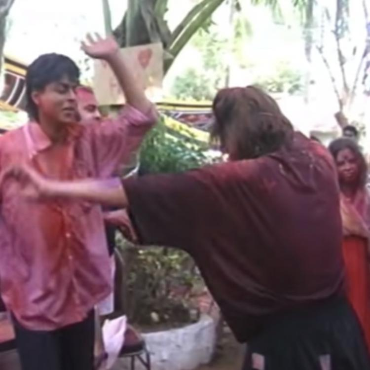 Shah Rukh Khan & Gauri dancing at a Holi party in this throwback video will drive your quarantine blues away