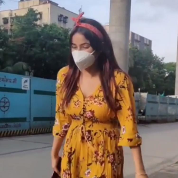 Shehnaaz Gill indulges in fun banter with the paps as they ask her to take off her mask for pictures; WATCH