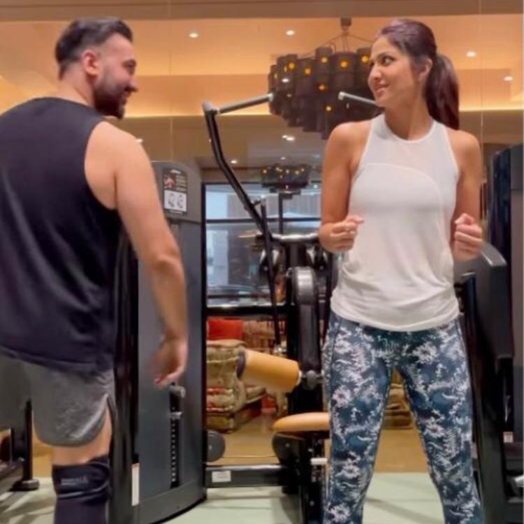 Shilpa Shetty adds Bhangra to her workout