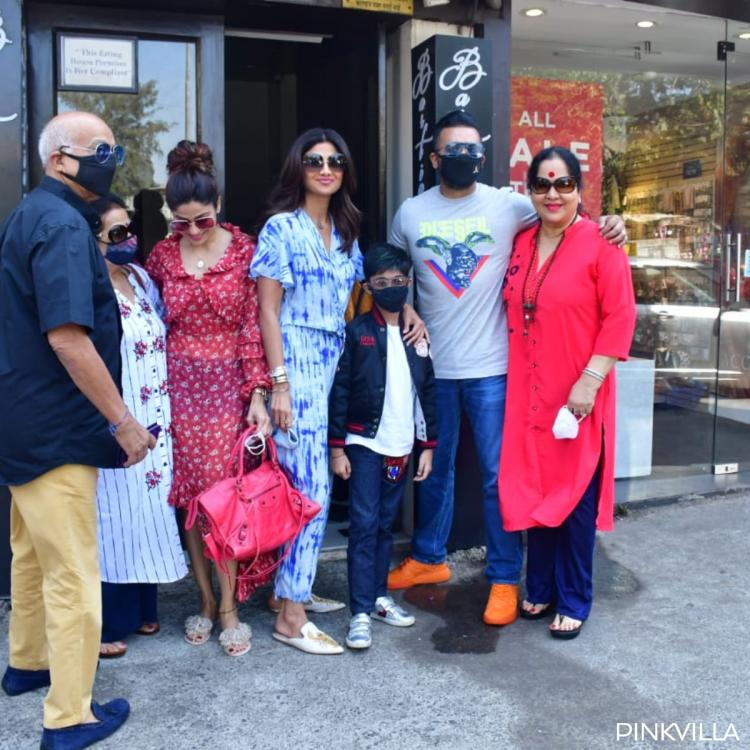 PHOTOS: Shilpa Shetty looks stylish as she steps out for Sunday lunch with hubby Raj Kundra & family