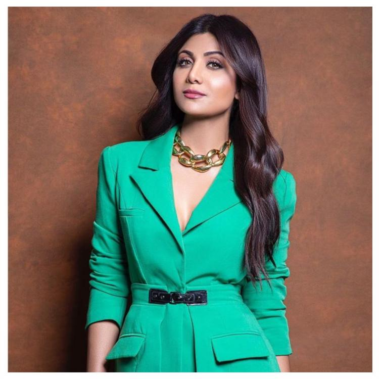 Shilpa Shetty makes a powerful statement in an unusual colour and ensures all eyes are on her