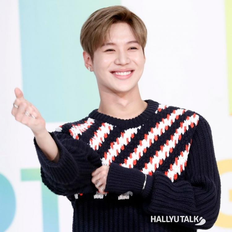 SHINee's Taemin at a production presentation in 2017