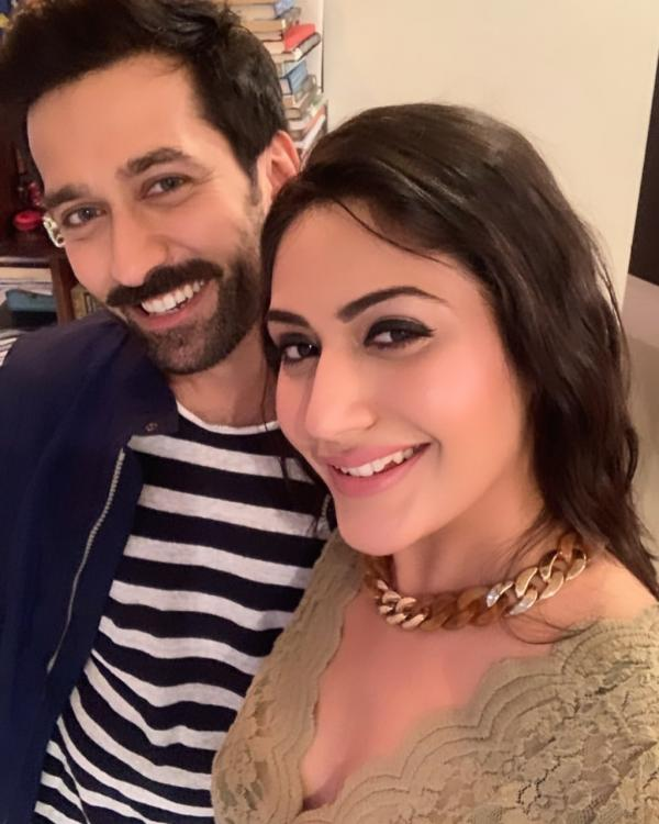 Ishqbaaaz co stars Surbhi Chandna and Nakuul Mehta catch up and we bet fans can't keep calm; check it out