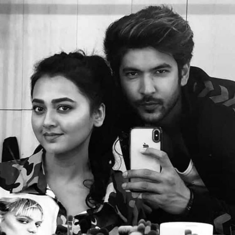 Shivin Narang and Tejasswi Prakash twinning in this BTS picture from Khatron Ke Khiladi 10 cannot be missed