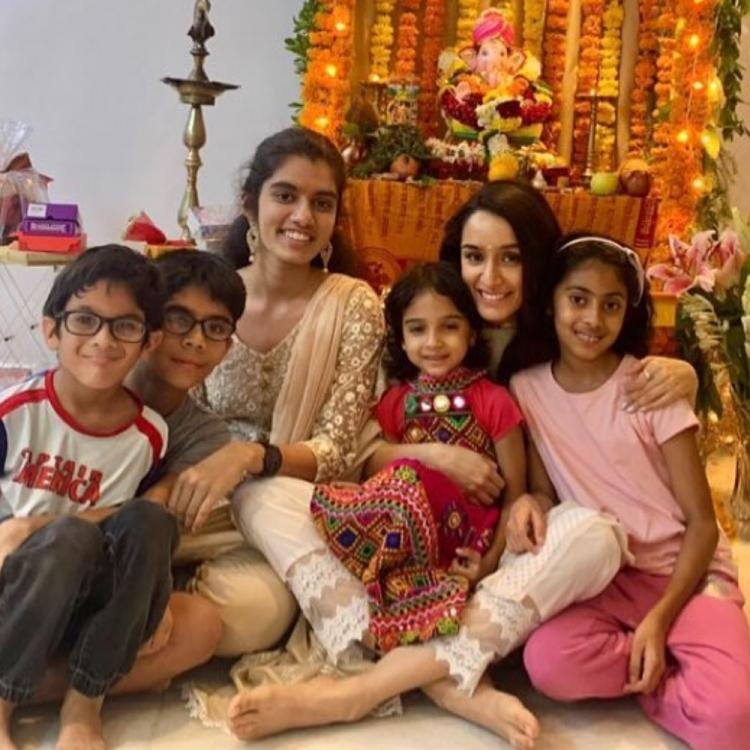 Ganesh Chaturthi 2019: Shraddha Kapoor gets goofy as she hangs out with little 'chichore' of her family; WATCH