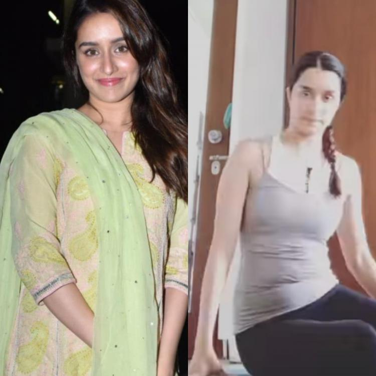 Shraddha Kapoor works out at home