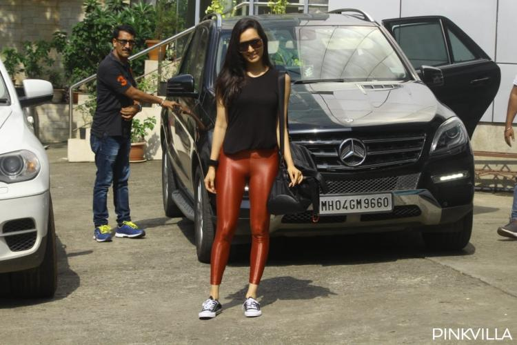 Pics: Shraddha Kapoor oozes oomph in black tee & brown pants as she arrives for Street Dancer rehearsals