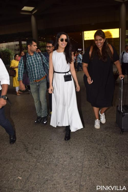 PHOTOS: Shraddha Kapoor slays the rockstar chic look in a white dress & boots as she returns to the bay