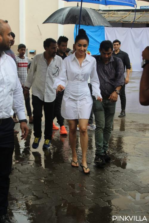 Pics: Shraddha Kapoor ditches her stilettos & steps out in flip flops on a rainy Friday to promote Chhichhore