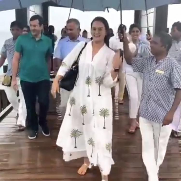 Sonakshi Sinha is giving us major vacay goals as she enjoys the rains in Maldives; WATCH Video