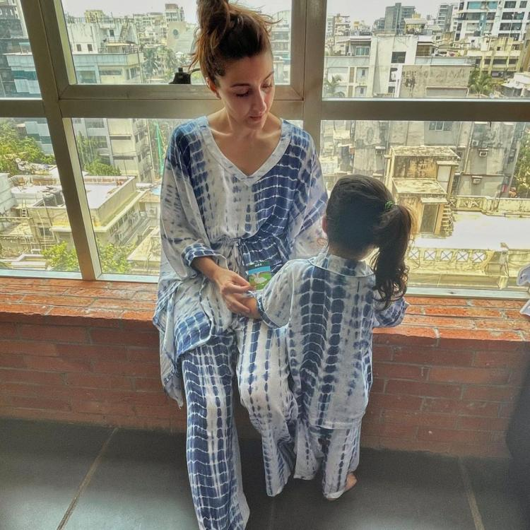 Soha Ali Khan admiringly looks at Inaaya as they stay home amid COVID 19 surge: Be grateful for what you have