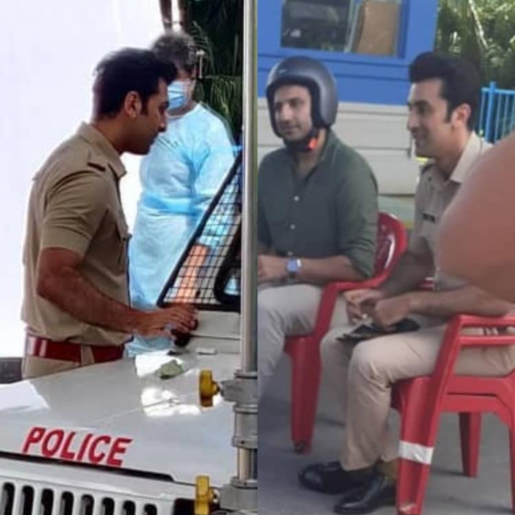 Someone call Rohit Shetty as Ranbir Kapoor dons the police uniform for a new shoot; See Pics