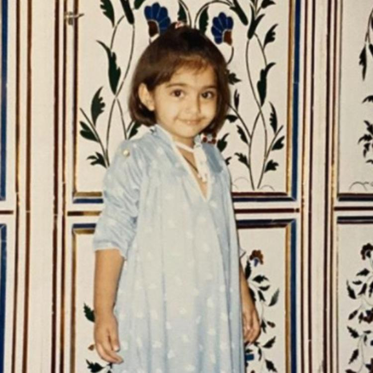 Sonam Kapoor drops a childhood pic with new one as she reveals her favourite colour, leaves Anand Ahuja in awe