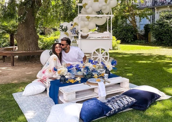 Sonam Kapoor gets a kiss from hubby Anand Ahuja as he reminisces his birthday celebrations in London; PHOTO