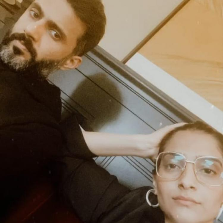 Sonam Kapoor gives a glimpse of her and hubby Anand Ahuja's 'Work From Home' mood making us feel relatable