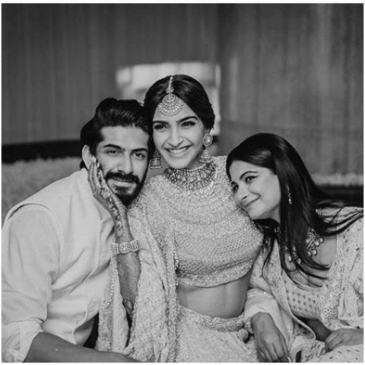 Sonam Kapoor misses 'brats' Rhea Kapoor, brother Harshvarrdhan as she shares a throwback pic from her sangeet