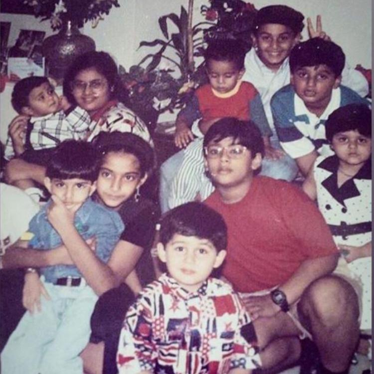 Sonam Kapoor shares an adorable picture of her, Ranbir Kapoor, Arjun Kapoor & others from their childhood days