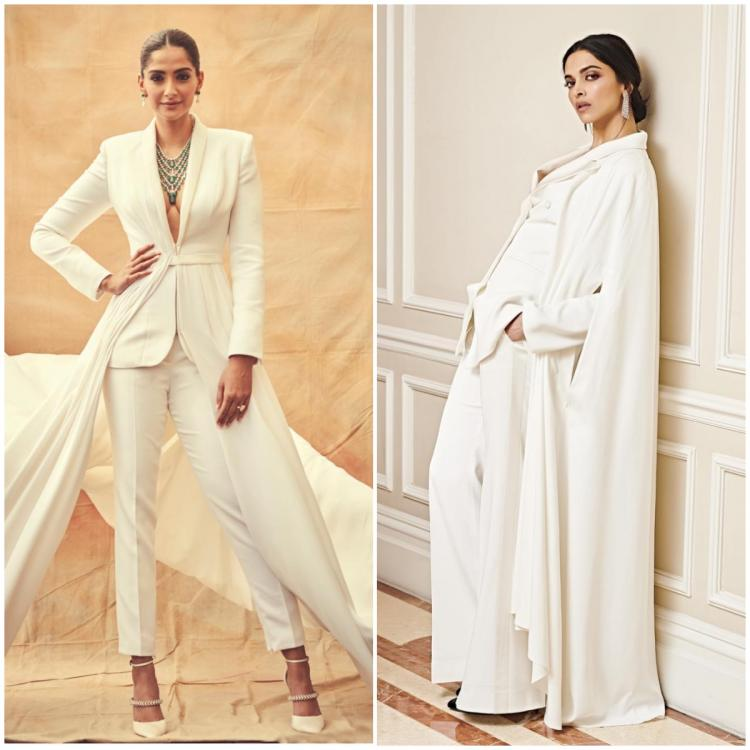 Fashion Faceoff: Sonam Kapoor or Deepika Padukone: Who wore the white cape style pantsuit better?