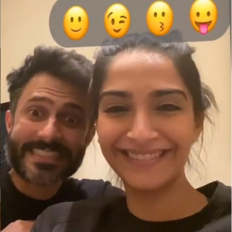 Sonam Kapoor & Anand Ahuja's cute expressions break the internet as they take up the emoji challenge; VIDEO