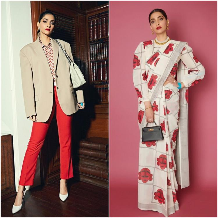 Sonam Kapoor shows us she can easily go from a boss lady to a desi girl in no time; Check it out