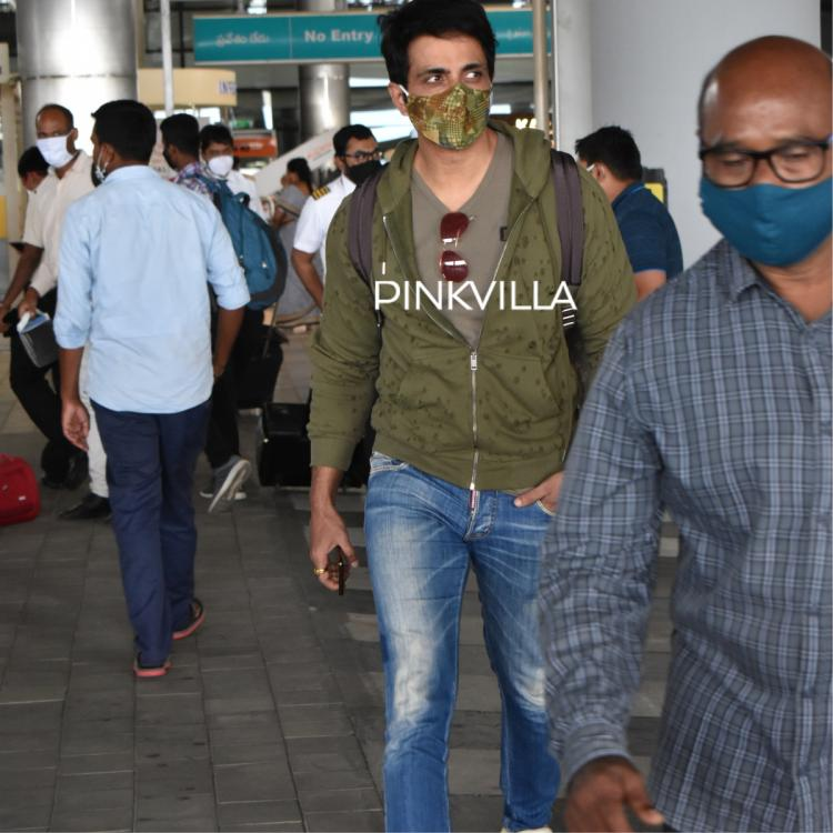 Sonu Sood poses with fans as he arrives at Hyderabad airport; See PHOTOS