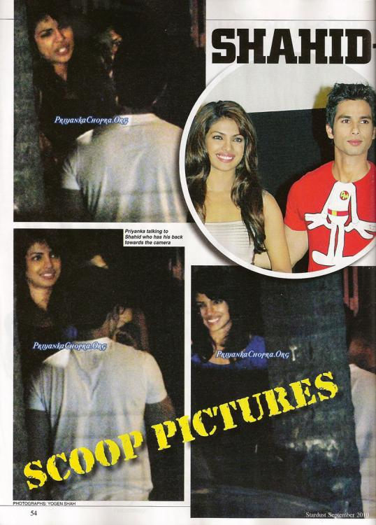 Is shahid Kapoor dating priyanka chopra