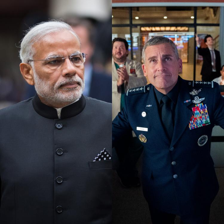 Steve Carell mention PM Narendra Modi's name during a sequence in Space Force.
