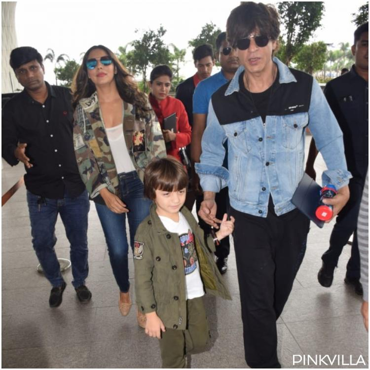 PHOTOS: Shah Rukh Khan's lil tot AbRam looks in vacay mood as he gets papped with SRK & Gauri Khan at airport