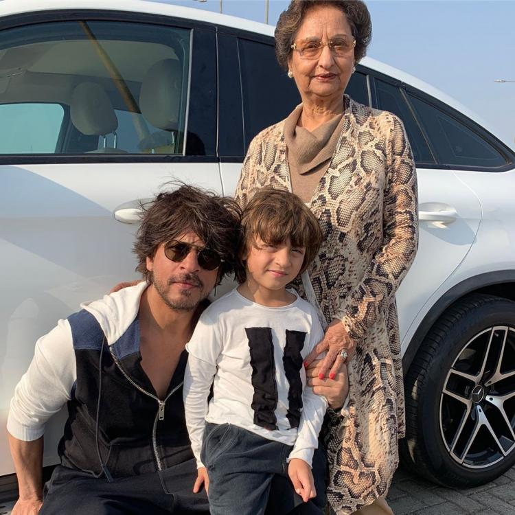 Shah Rukh Khan and AbRam strike a cool pose in this UNSEEN PHOTO as Gauri Khan wishes mother on her birthday