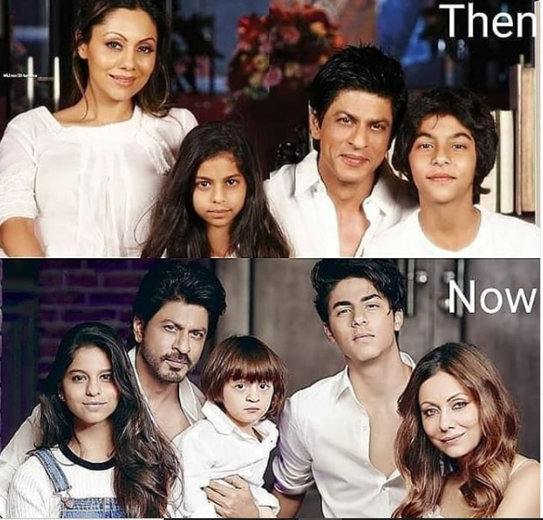 Shah Rukh Khan, Gauri Khan and family's THEN and NOW pictures have taken over the internet and fans are in awe