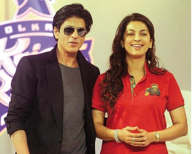 Image result for juhi chawla and shahrukh khan