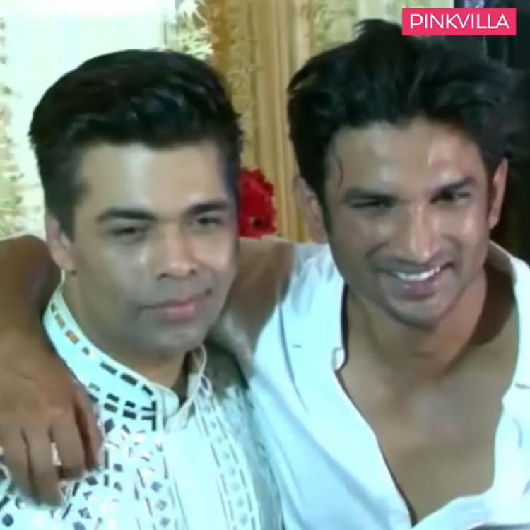 When Sushant Singh Rajput couldn't control his laugh over something KJo said & gave him hug at an event