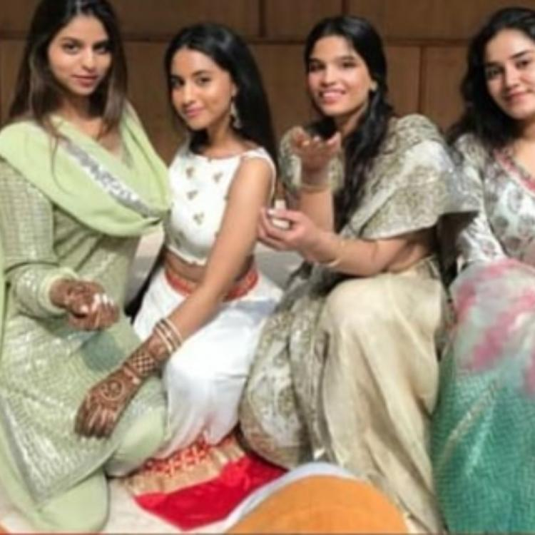 Shah Rukh Khan's daughter Suhana Khan enjoys a family wedding along with her cousin; View PICs
